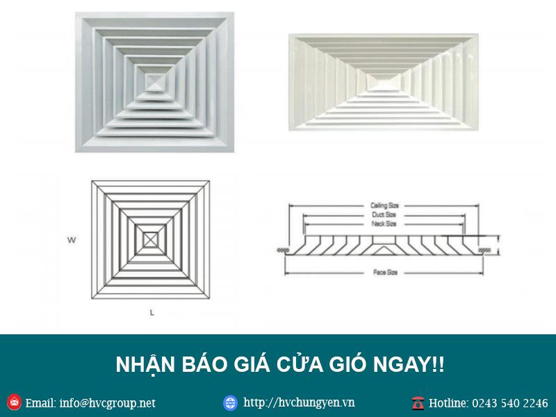 Báo giá cửa gió giá rẻ tại Hà Nội