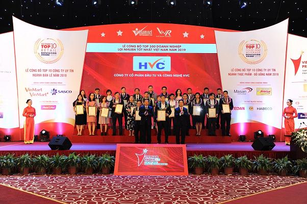 HVC Group nhận chứng nhận Top 500 doanh nghiệp lợi nhuận tốt nhất Việt Nam năm 2019