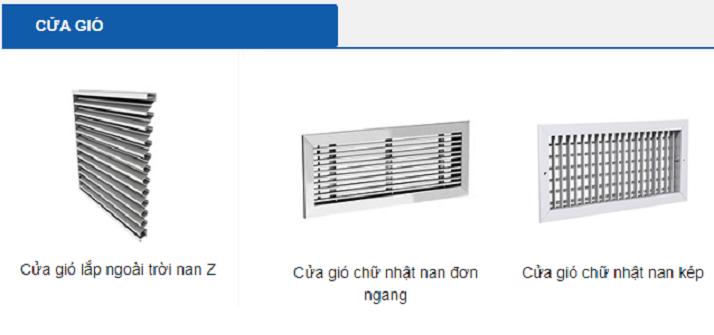 Top đầu các thiết bị phụ trợ ống gió