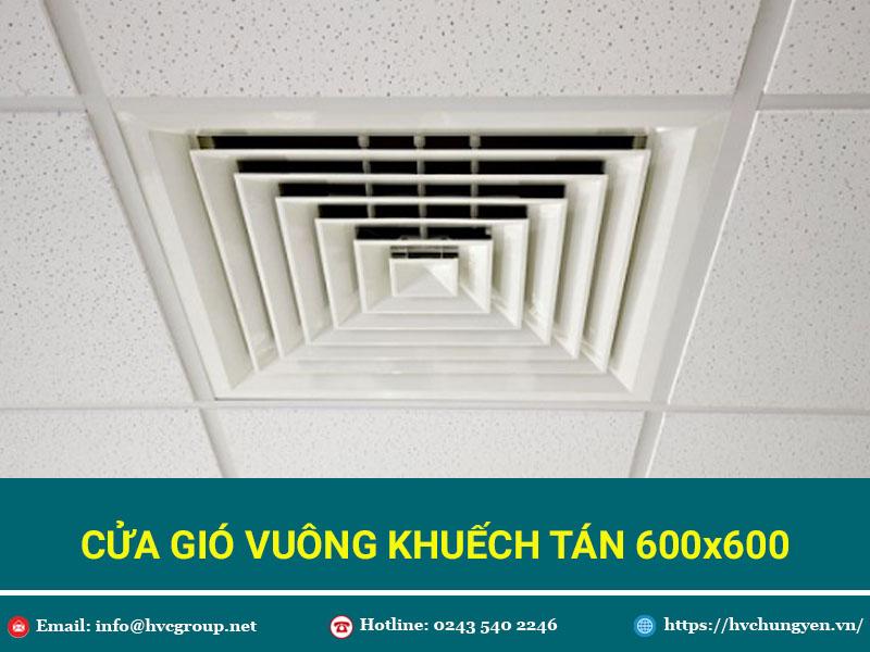 Cửa Gió Vuông Khuếch Tán 600x600 - Giá Tốt - Chất Lượng