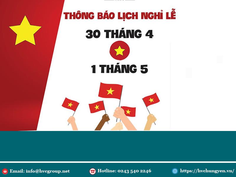 HVC Hưng Yên thông báo lịch nghỉ lễ30/4 - 1/5