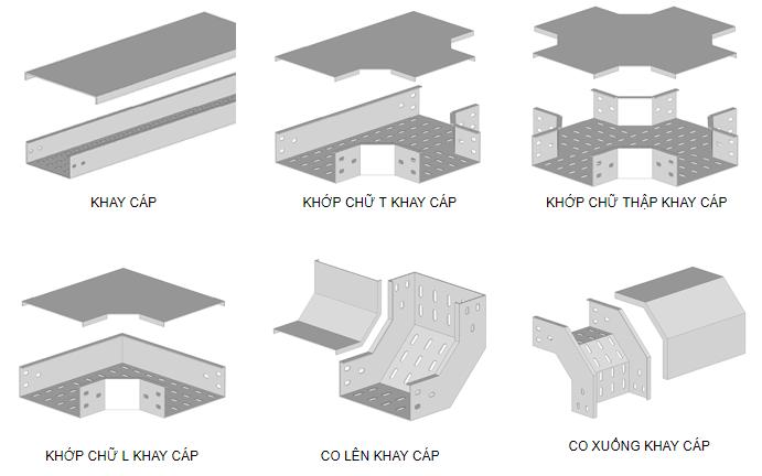 Những vật liệu được sử dụng trong thang máng cáp