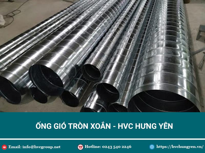 Ưu điểm nổi bật của ống gió tròn xoắn HVC Hưng Yên - Báo giá chi tiết